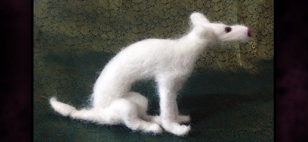 DOY Etsy - Felted Hart Side View